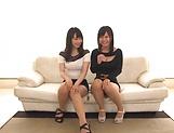 Sexy Hatsuki Nozomi and Aizawa Yurina want to be nailed