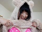 Kinky teen hottie Azuki gets rewarded by a creamy cumshot picture 14