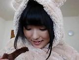 Kinky teen hottie Azuki gets rewarded by a creamy cumshot picture 15