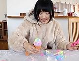 Kinky teen hottie Azuki gets rewarded by a creamy cumshot