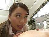 Savoury Japanese babe loves getting shagged