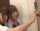 Horny schoolgirl Saitou Miyu in kinky threesome scene picture 14
