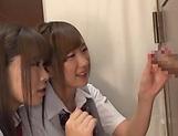 Horny schoolgirl Saitou Miyu in kinky threesome scene picture 15