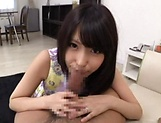 Sweet Japanese sweetie enjoys a kinky head picture 14