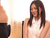 Amateur Yuuki Aina made to suck cock on live cam picture 13