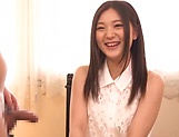 Amateur Yuuki Aina made to suck cock on live cam picture 15