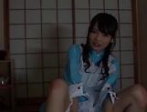 Shuri Atomi gives an admirable footjob