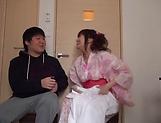 Lusty milf Hayakawa Mizuki stroking a big cock picture 11