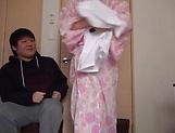 Lusty milf Hayakawa Mizuki stroking a big cock picture 13