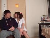 Lusty milf Hayakawa Mizuki stroking a big cock picture 17