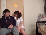 Lusty milf Hayakawa Mizuki stroking a big cock picture 18