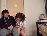 Lusty milf Hayakawa Mizuki stroking a big cock picture 19