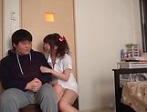 Lusty milf Hayakawa Mizuki stroking a big cock picture 20