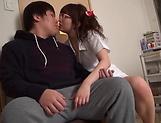 Lusty milf Hayakawa Mizuki stroking a big cock picture 25