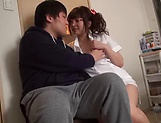 Lusty milf Hayakawa Mizuki stroking a big cock picture 27