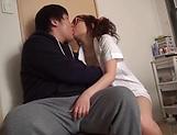Lusty milf Hayakawa Mizuki stroking a big cock picture 29