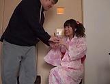 Lusty milf Hayakawa Mizuki stroking a big cock