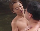Hot Asian mature gets her shaved muff drilled deep