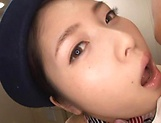 Yuna Ema takes a messy cum on face