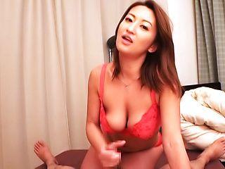 Superb POV blowjob with amazing Fukiishi Rena