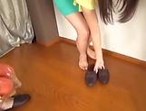 Hot Japanese babe enjoying a big dick