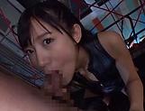 Hoshina Ai got fresh cum in mouth