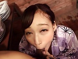 Alluring Asian minx in lingerie foursome action