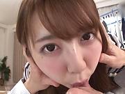 Aroused Japanese brunette gets hammered