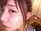 Teen Japanese babe sucks cock in perfect POV picture 13