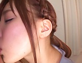 Teen Japanese babe sucks cock in perfect POV picture 14