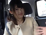 Hot Japanese teen featured in a car sex scene