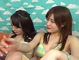 Hot milf in a bikini had a group action