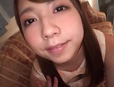 Japanese teen in stockings is aroused picture 12