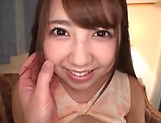 Japanese teen in stockings is aroused picture 15