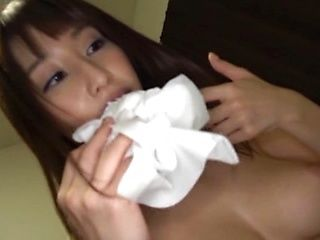 Busty Ayami Shunka kneels before cock to suck like a pro