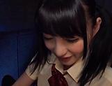 Amateur Asian teen Hakii Haruka deepthroats a cock in POV
