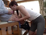 Busty Japanese milf is a tit fuck queen