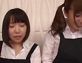 Asian schoolgirls enjoying cock in superb modes