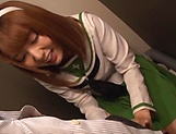 Japanese schoolgirl is sucking hard dick