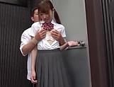 Insatiable schoolgirl is sucking cocks picture 14