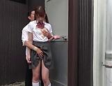 Insatiable schoolgirl is sucking cocks picture 15