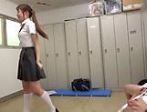 Insatiable schoolgirl is sucking cocks