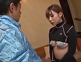 Hot blowjob cosplay for needy Rui Hasegawa picture 12