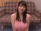 Busty girl from Japan Yuzuki Marina sucks a cock and eats cum
