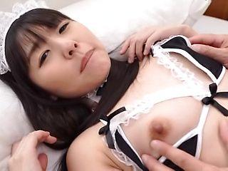 Cute love Tsubomi enjoys passionately sucking a hard cock