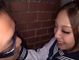 Schoolgirl gets a strong dick to crack her puffy twat