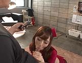 Kaede Fuyutsuki, makes  a dude cum