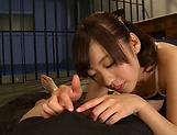 Fujii Arisa flaunts her cock sucking skills