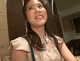 Oohinata Haruka has her shaved pussy stretched picture 13