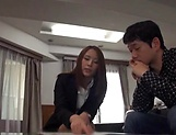 Arousing Asian mature babe creamed in office sex picture 12